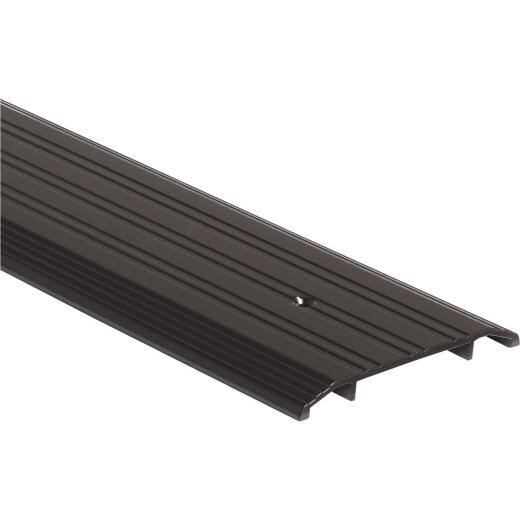 M-D Ultra 1/2 in. x 5 in. x 72 in. Bronze Commercial Low Profile Fluted Saddle Threshold