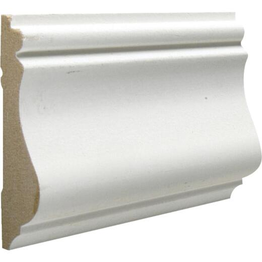 Cedar Creek 390 9/16 In. W. x 2-5/8 In. H. x 8 Ft. L. White MDF Colonial Chair Rail Molding