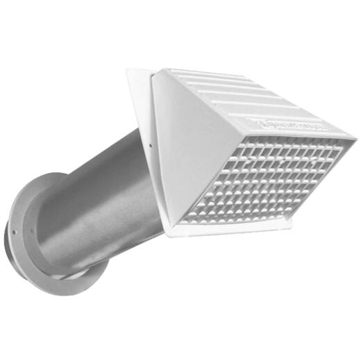 Dundas Jafine Maxi-Flow 4 In. White Plastic Dryer Vent Hood