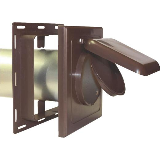 No-Pest 4 In. Brown Plastic J-Block Dryer Vent Hood