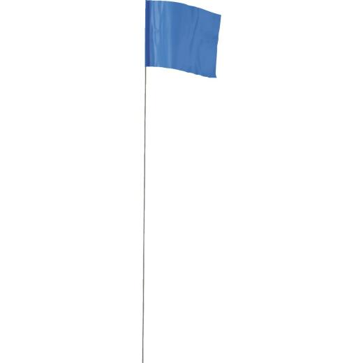 Empire 21 In. Steel Staff Blue Marking Flags