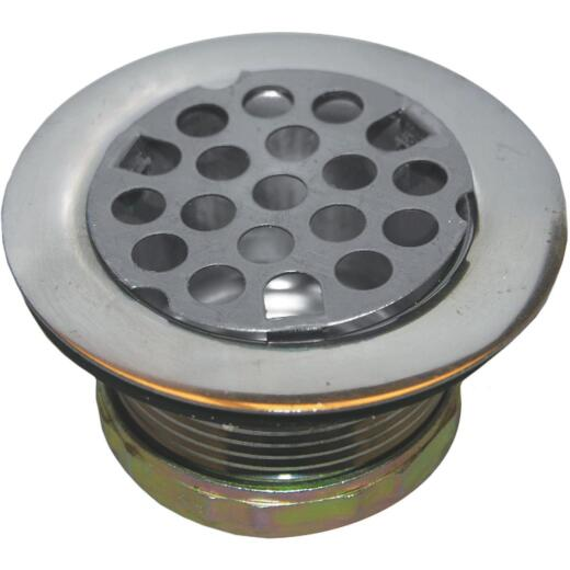 Lasco 2 In. Opening Chrome Plated Flat Top Strainer Assembly