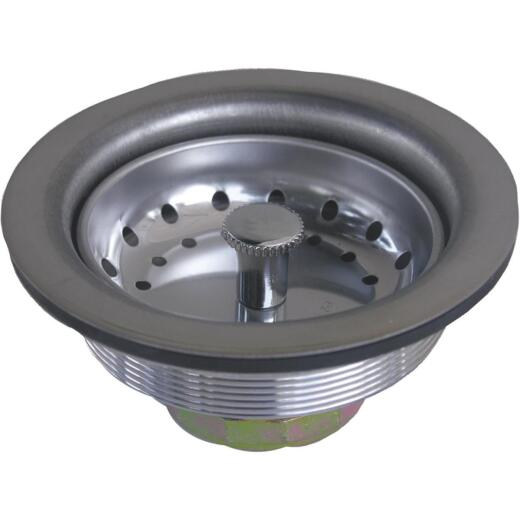 Lasco 3-1/2 In. Chrome Duo Basket Strainer Assembly