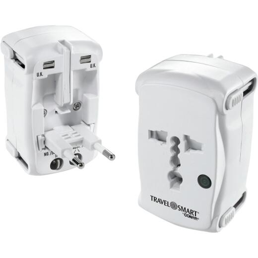 Franzus All-In-One Foreign Adapter Plug, Europe/Asia/Australia/NewZealand/Africa/North America/South America