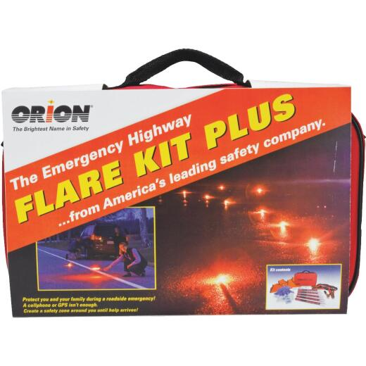 Orion Flare Kit Plus Emergency Road Kit (19-Piece)