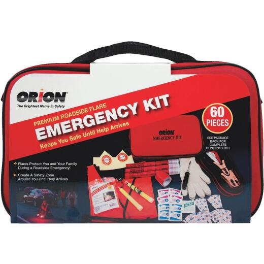 Orion Premium Emergency Road Kit (60-Piece)