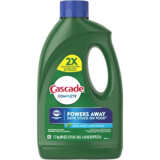 Cascade Complete 60 Oz. Fresh Scent Gel Dishwasher Detergent