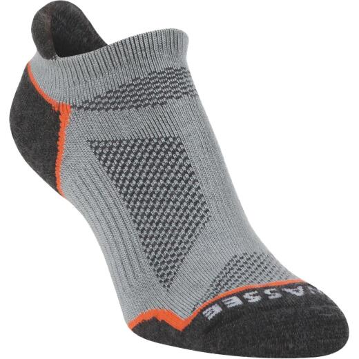 Hiwassee Trading Company Large Gray Lightweight Tech No-Show Sock