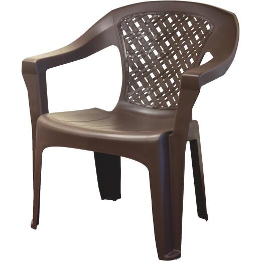Adams Big Easy Earth Brown Woven Resin Stackable Chair