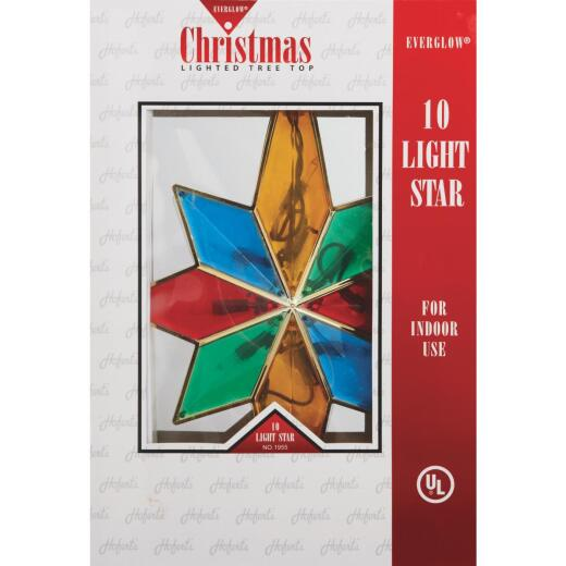 J Hofert Everglow Multi-Color 12 In. Bethlehem Star Christmas Tree Topper